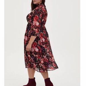 LAST ONE! Torrid Purple Floral Chiffon Dress 1X